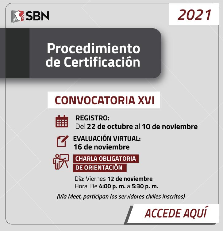 Certificación XVI