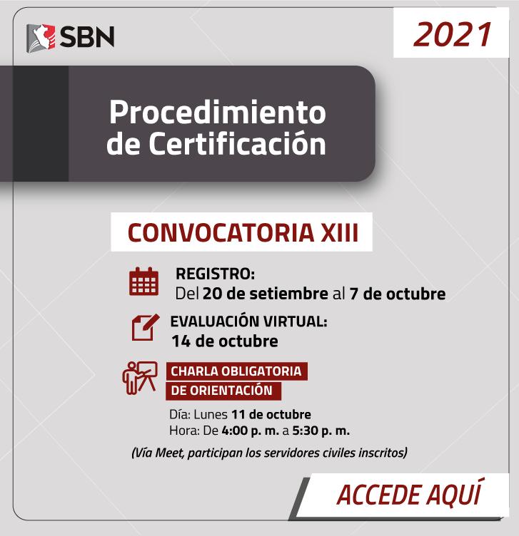 Certificación XIII