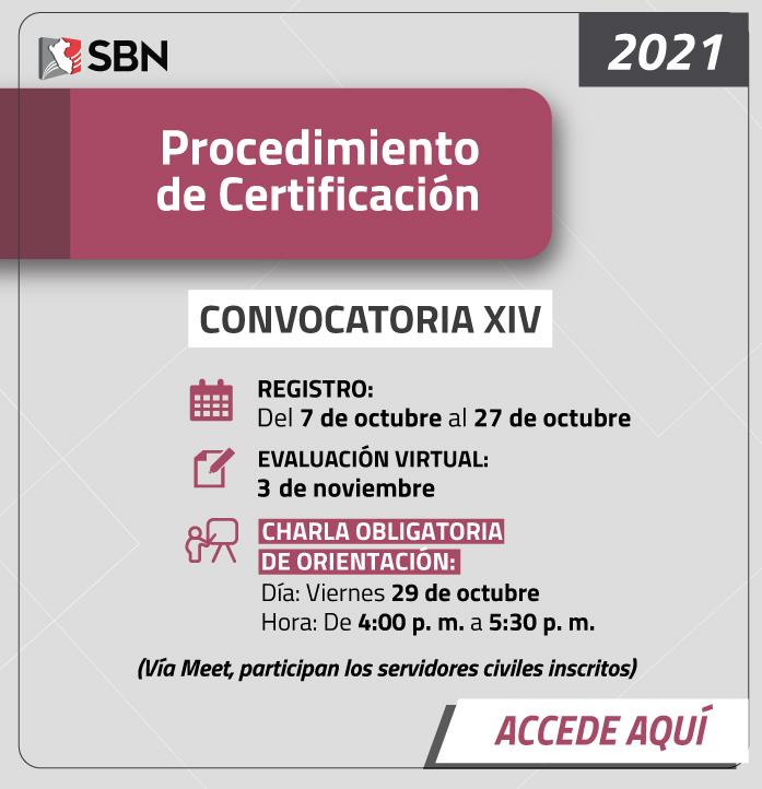 Convocatoria de Certificación XIV