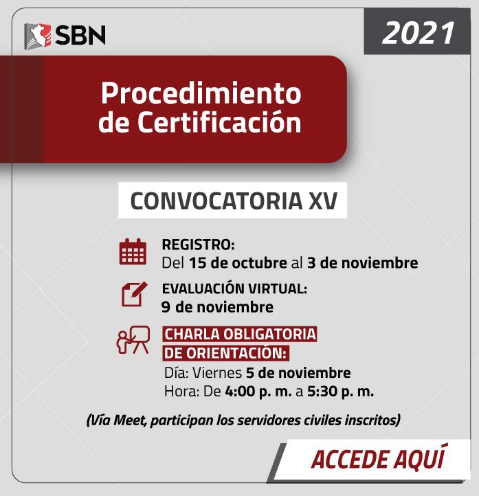 Certificación XV